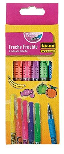 Idena 512169 - Freche Früchte, 6 Gelstifte, 0.8 mm Stärke, mit Duft -