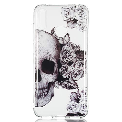 Thoankj Schutzhülle für Huawei Y7 2019/Y7 Pro 2019/Y7 Prime 2019, Stoßfest Transparent Klar Kristall Weich Flexible TPU Bumper Case Ultra Dünn Slim Fit Silikon Rubber Grip Skin Phone Cover