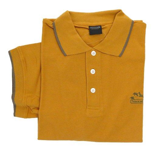 100% Baumwolle, Herren Polo Short Sleeve 9140 Trekking Orange