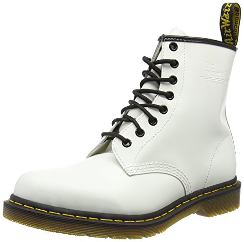 Dr-Martens-1460-Smooth-Stivaletti-Unisex-Adulto-Bianco-36