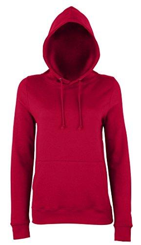 JH001F Girlie College Hoodie Mädchen Kapuzen Sweatshirt Damen Red Hot Chilli