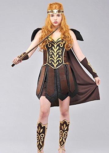 Magic Box Int. Erwachsenen-Gladiator-Lady-Krieger-Prinzessin Kostüm Medium (UK (Gladiator Krieger Prinzessin Kostüm)