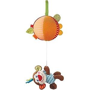 HABA 302996 Juguete de Peluche - Juguetes de Peluche (Mono de Juguete,, Vidrio, Poliéster, Niño/niña, 130 mm, 122 g)