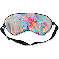 Sleep Eye Mask Colorful Flowers Lightweight Soft Blindfold Adjustable Head Strap Eyeshade Travel Eyepatch preisvergleich bei billige-tabletten.eu