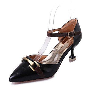 LvYuan Da donna Sandali Comoda PU (Poliuretano) Estate Casual Footing Comoda Fibbia A stiletto Nero Beige Rosso 7,5 - 9,5 cm beige
