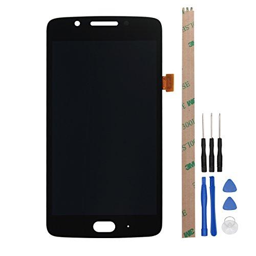 HYYT Reparatur und Ersatz LCD Display + Touchscreen Digitizer mit Frei Werkzeuge für Motorola MOTO G5 (Schwarz) (Moto-screen-ersatz)