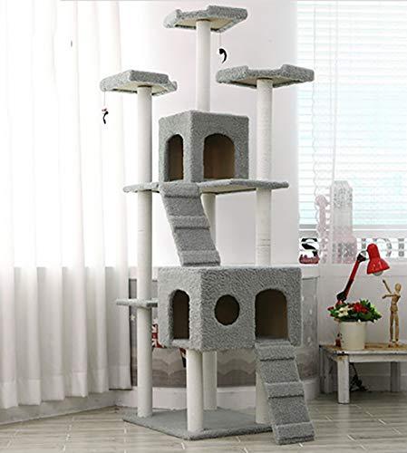 ZISITA Cat Tiragraffi Grande Struttura per Arrampicarsi per Gatto Kitterntoys Casa Cat Multifunzionale Albero Consiglio Condo Mobili