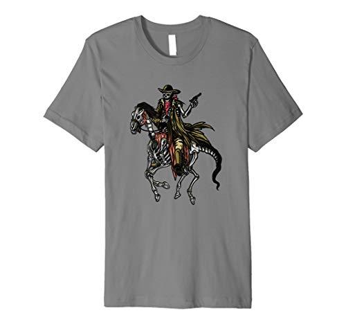 Halloween Cowboy Skeleton Shirt Skeleton Horse Gift (Horse Halloween Skeleton)