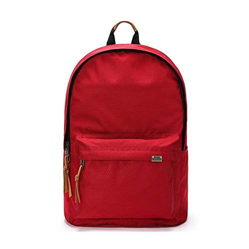YING123 Rucksack Männlichen Retro-Stil Einfache Rucksack Student Anti-Diebstahl Weibliche Tasche Große Kapazität Computer Tasche 14,1 Zoll - 15 Zoll, S