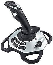 Logitech G Extreme 3D Pro Joystick, Controllo Timone a Rotazione, 12 Pulsanti Programmabili, Comando Hat Swit