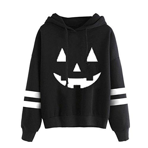 n Btruely Halloween Jumper Langarm Pullover Hoodie Sweatshirt Tops (M, Weiß) (Halloween Hoodies)