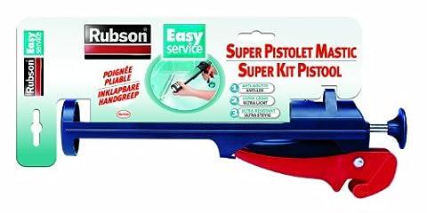 Rubson Pistolet Mastic Easy Service - Pliable et résistant - Pour une application précise du mastic - Noir