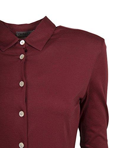 GRETA & LUIS Damen Premium-Jerseybluse Alma in Rot Chili