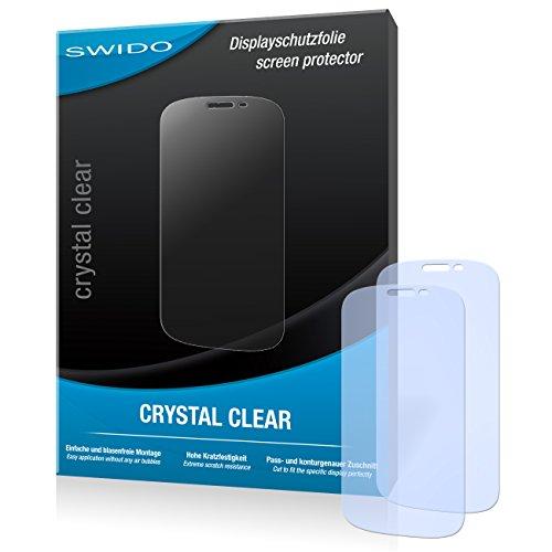 SWIDO Bildschirmschutz für Yota YotaPhone 2 [4 Stück] Kristall-Klar, Hoher Härtegrad, Schutz vor Öl, Staub & Kratzer/Schutzfolie, Bildschirmschutzfolie, Panzerglas Folie