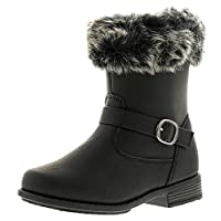 Princess Stardust Delilah Girls Synthetic Material Long Calf Length Boots Black