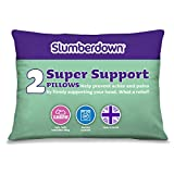 Slumberdown Super Support Pillow Pair, White