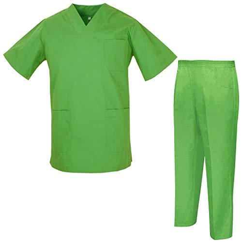 MISEMIYA Uniforme Medica con Camice e Pantaloni Uniformi Mediche Camice Uniformi sanitarie