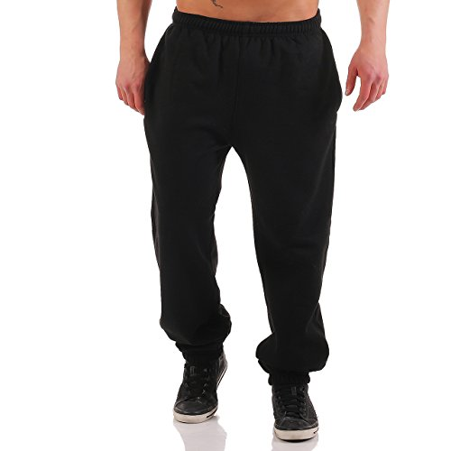 Finchman Herren Jogginghose Angry FM193 Training Regular Fit Sport Freizeit Hose Schwarz