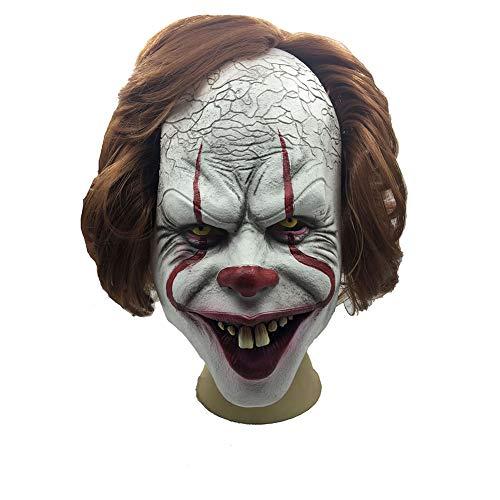 BRG315 Clown Maske Halloween Latex Horror Prop Ostern Maske, Maskerade Maske Cosplay Make-Up Party Kostüm Film Requisiten, Geeignet Für Mottopartys