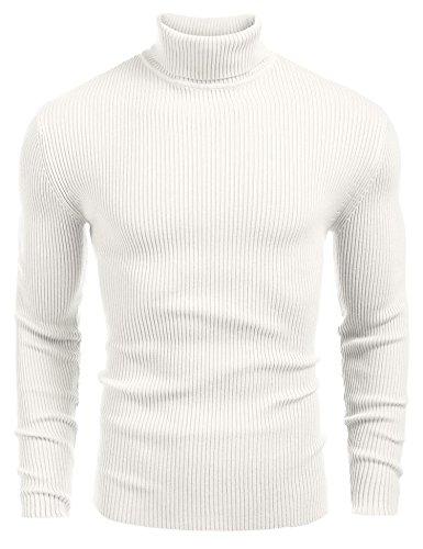 Caeasar Slim Fit Sweatshirt Rollkragenpullover Herren Modern Freizeitbekleidung Pullover mit Kragen Langarm Oberteile