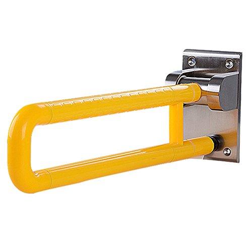Haltegriff U Funktionshandlauf, Steuerhandlauf, WC-Toilettenhandlauf, antibakterieller Rutschfester Badezimmerhandlauf Duschgriff Badezimmer Balance Bar (Color : Yellow)