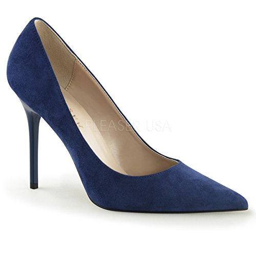 Pleaser CLASSIQUE-20, Damen Pumps Denim Suede