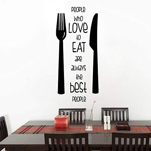 Cartoon Liebe zu Essen Wandaufkleber Wohnkultur für Wohnzimmer Firma Schule Büro Dekoration 43 * 90 cmWasser