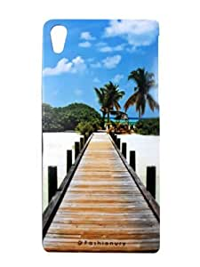 FASHIONURY Printed Soft Back Case Cover For Sony Xperia Z4-P329