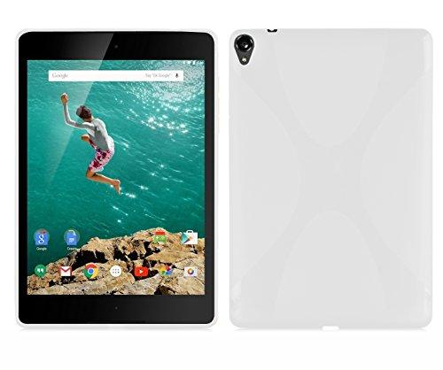 LG Nexus 9 Hülle in Handyhülle aus flexiblem TPU Silikon im X-Line Design Silikonhülle Schutzhülle Soft Back Cover Case Bumper Magnesium Weiß ()