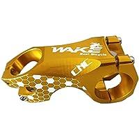 Tallo para manillar de bicicleta de carretera, de alta resistencia, aleación de aluminio 6061, eje de 20 grados, CNC, forjado y mecanizado, para la mayoría de bicicletas, bicicleta de carretera, MTB, amarillo