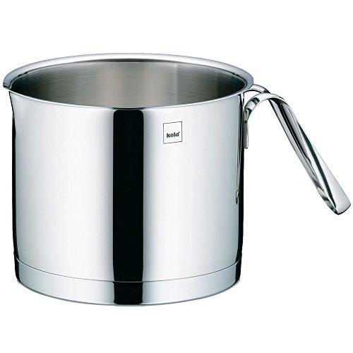 Kela 10963 Cailin Pot à Lait Acier Inoxydable Argent Brillant 14 cm