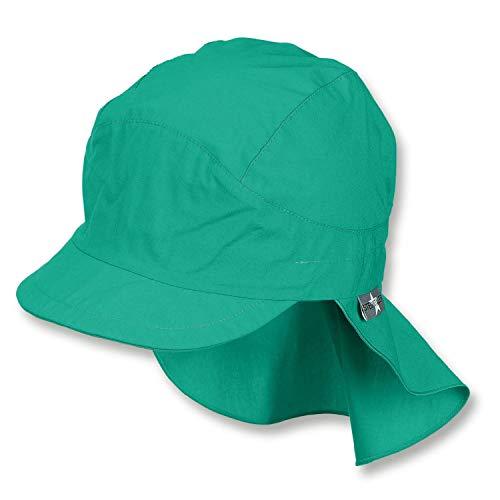 Sterntaler - Jungen Schirmmütze mit Nackenschutz, Sommermütze, LSF 50+, grün -...
