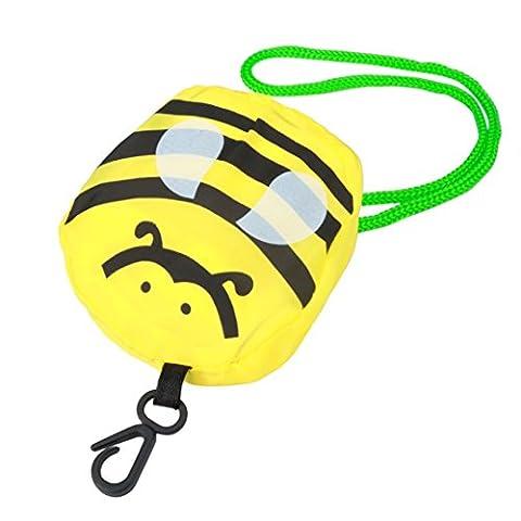 sunnymi Karikatur Mini Faltbare Gelb Shopper Einkaufstaschen/Faltbar Wiederverwendbar/Nylon Carrybag Material/Easy-Shopper Standard/Eco Handtaschenlagerung/Reise Einkaufen/Gute Qualität/Gefaltete 8x14cm/entfaltete 37X54cm (Kleine (Papier Bag System)