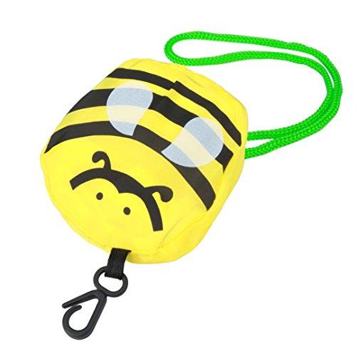 sunnymi Karikatur Mini Faltbare Gelb Shopper Einkaufstaschen/Faltbar Wiederverwendbar/Nylon Carrybag Material/Easy-Shopper Standard/Eco Handtaschenlagerung/Reise Einkaufen/Gute Qualität/Gefaltete 8x14cm/entfaltete 37X54cm (Kleine Biene) (Konvektion Ofen Toaster Kleine)