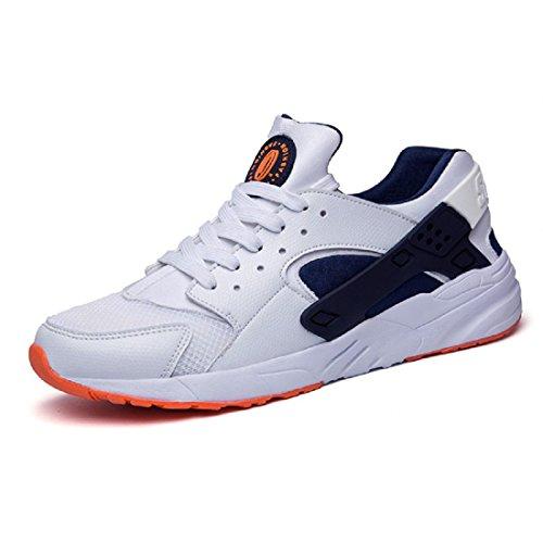 Hommes Chaussures de sport Antidérapant Respirant Entraînement Chaussures de course Chaussures de voyage white orange