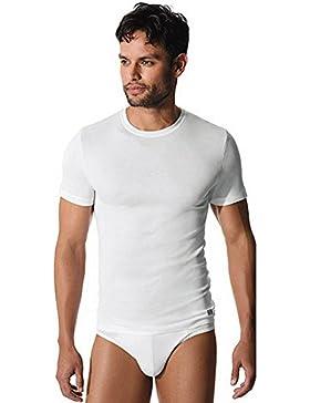 FILA T-shirt girocollo stretto in cotone elasticizzato GRIGIO MELANGE MEDIUM