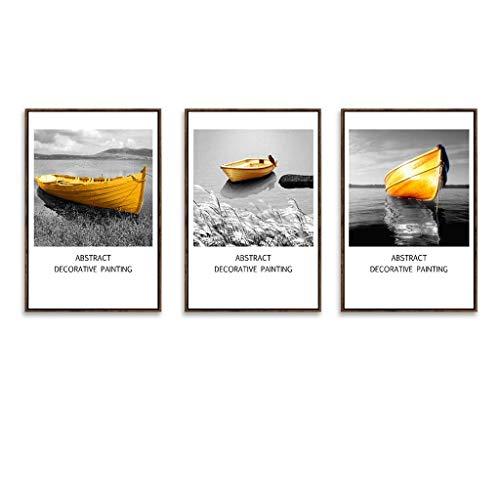 Cxmm Fotorahmen, Bilderrahmen Set 3 Panel Wandkunst Bilder, hängen Dekorative Kunst Für Wohnzimmer Schlafzimmer Schönes Geburtstagsgeschenk/Geschenk, Ausgezeichnete Wandfüller, 6 Stil (Farbe: C -