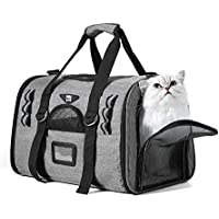 Noble Duck Transportín Perro Gato Transpirable Plegable Pet Carrier, Aerolínea Aprobada Plegable Impermeable Acolchado Suave
