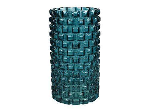 Engelnburg Vase Petrol Glas Höhe x Breite x Tiefe in cm: 24 x 13 x 13,5