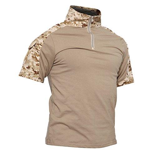 Militär-gelb T-shirt (TACVASEN Outdoor t Shirt Herren militär Shirt Kurzarm camo t-Shirt Tactical taktisches Shirt)