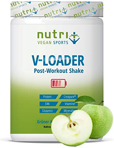 POST-WORKOUT-Shake V-LOADER | Muskelaufbau und Bodybuilding | 750g Grüner Apfel Pulver | Maltodextrin | Protein-Pulver | EAA | Creapure ®| Vegan Supplement | Green Apple