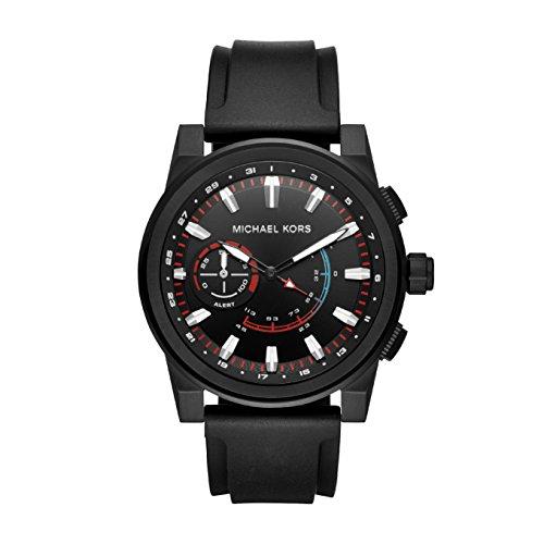 Michael Kors Herren Analog Quarz Uhr mit Silikon Armband MKT4010