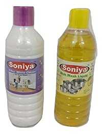 Soniya Dishwasher + Soniya Milky White Cleaner(1ltr * 2)