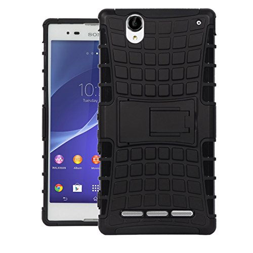 Xperia T2 Ultra Case, Dr Chen Slim fit, Tough Armor Dual Layer Hybrid Protective Shock Proof Case Cover With Kickstand for Sony Xperia T2 Ultra - Black  available at amazon for Rs.240