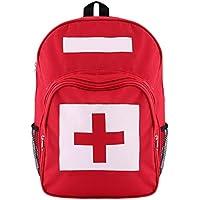 Yuan Ou Kit Primeros Auxilios Mochila De La Cruz Roja Primeros Auxilios Bolsa Al Aire Libre Deportes Camping Hogar 40 * 30 * 15cm Rojo