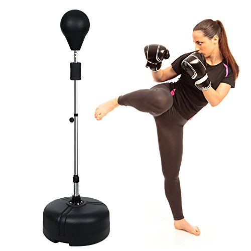 Acecoree Boxen Set Punchingball Standbox Standboxsäcke Boxstand Trainer Training Speed Ball Höhenverstellbar von 144~156cm