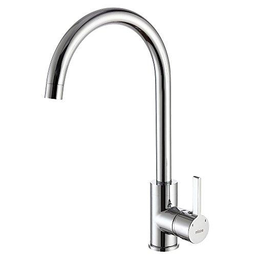Micoe rubinetto miscelatore monocomando lavello cucina alto moderni cromo bocca rotazione 360°