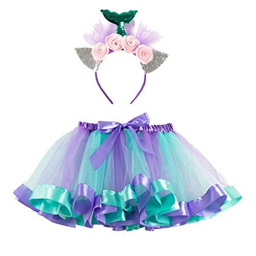 Rock Haustier Kostüm Star - TüTü Kinder Rainbow TüTü Rock für Kleinkind Mädchen Ballett Kostüm Fotos mit Einhorn Blume Stirnband Geburtstag Birthday Party Dress Up Fun