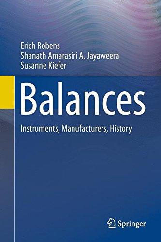 Balances: Instruments, Manufacturers, History