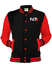 N7 Mass Effect Varsity College Jacket - Unisex Men's Gaming Jacket